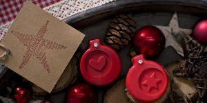 Ideen mit Seife für Weihnachten: Weihnachtsduft | Originelles Potpourri mit Seifenstücken mit geprägtem Herz und Stern als Duftträger