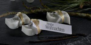 Ideen mit Seife für Weihnachten: Edel und verführerisch | Seife als extravagantes Give-Away mit verführerischem Vanilleduft