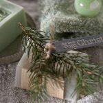 Ideen mit Seife für Weihnachten: Für Dich vom Christkind   ein kleines Stück vom Glück mit lichtgrauer Seife und einem natürlichen Duft