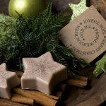 Ideen mit Seife für Weihnachten: Zimtsterne   Puristische und wohltuende Duftstars für die Deko zuhause
