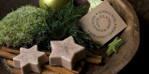 Ideen mit Seife für Weihnachten: Zimtsterne | Puristische und wohltuende Duftstars für die Deko zuhause