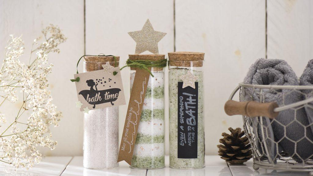 Ideen mit Badesalz für Weihnachten: Family Time