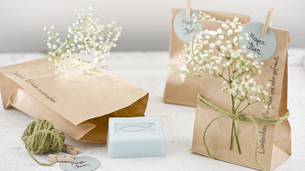 Ideen mit Seife für Kommunion und Konfirmation: Dankeschön