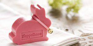 Ideen mit Seife für Ostern: Hoppelhase in sahnigem Rosa mit köstlichem Beerenduft