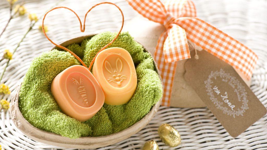 Ideen mit Seife zu Ostern: Osternest mit Hase und Möhre