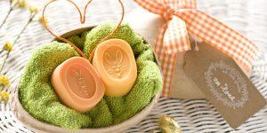 Ideen mit Seife zu Ostern: Kalorienarmes Osternest mit Hase und Möhre in Orange