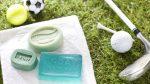 DIY Ideen mit Seife: Das Schönste am Sport ist das Gefühl danach   Handgemachte Seifen in Olivgrün und Türkis für Sportler