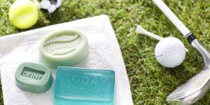 DIY Ideen mit Seife: Das Schönste am Sport ist das Gefühl danach | Handgemachte Seifen in Olivgrün und Türkis für Sportler